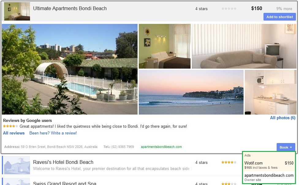 Google Places and Hotel Finder