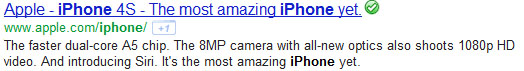 Apple's meta description
