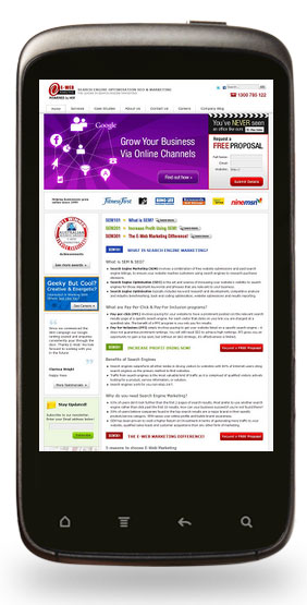 E-Web Marketing's Mobile Site