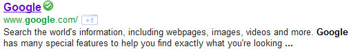 Google meta description