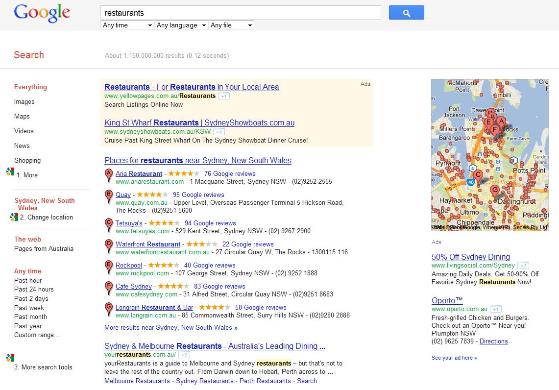 exploring the new google places layout e web marketing