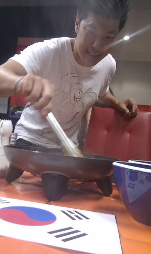 Jeff Yang cooking up a Korean storm!