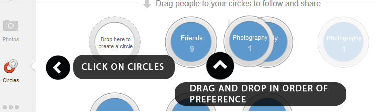 Google Plus - Rearranging Circles