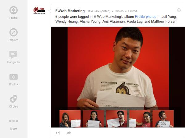 Image Highlights on Google Plus