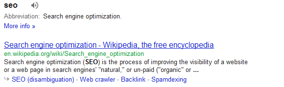 What is SEO? Search Results