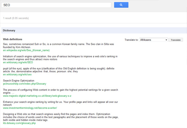 What is SEO? search result