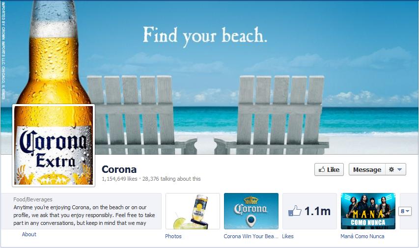 Corona Facebook Page