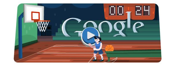 Basketball at the London Olympics 2012 Google Doodle