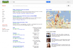 "Knowledge Graph for Google Search ""food"""