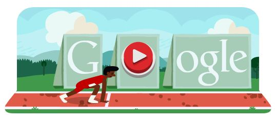 Hurdles at the London Olympics 2012 Google Doodle
