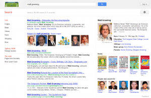 Matt Groening Google Search