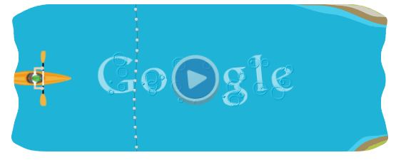 55cfcfde31e6 Slalom Canoe at the London Olympics 2012 Google Doodle