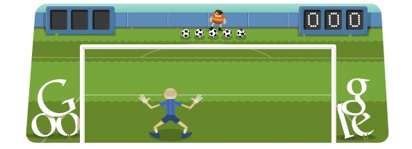 Soccer at the London Olympics 2012 Google Doodle