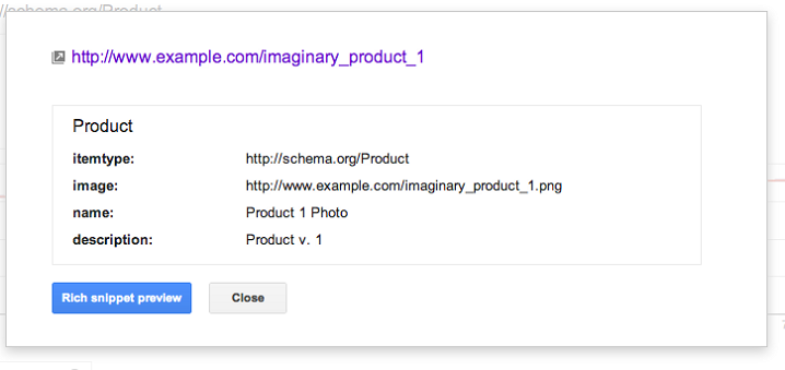 The Structured Data Page-Level View Dashboard in Google Webmaster Tools