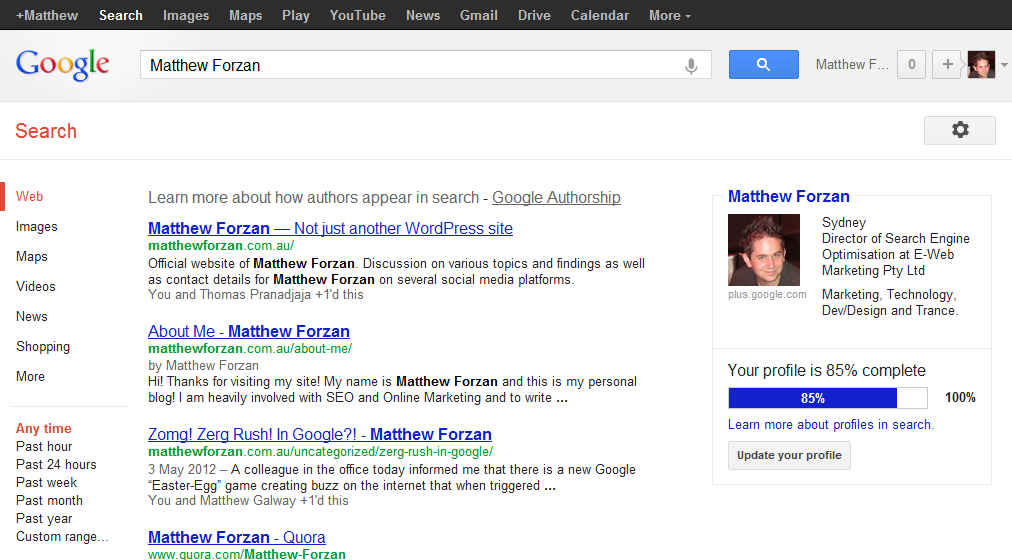 Matthew Forzan Google Authorship