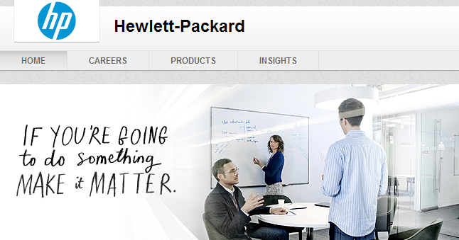 Hewitt Packard LinkedIn Header Example