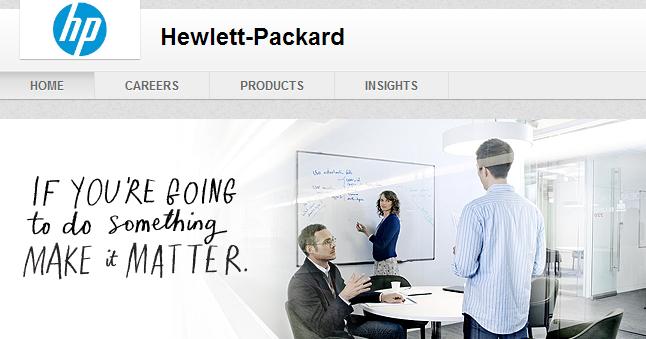 Hewitt Packard LinkedIn Header Example