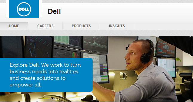 Dell LinkedIn Header Example