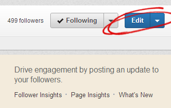 Edit LinkedIn Company Page