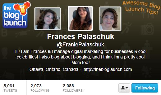 Franie Palaschuk Twitter