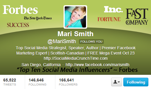 Mari Smith Twitter Image