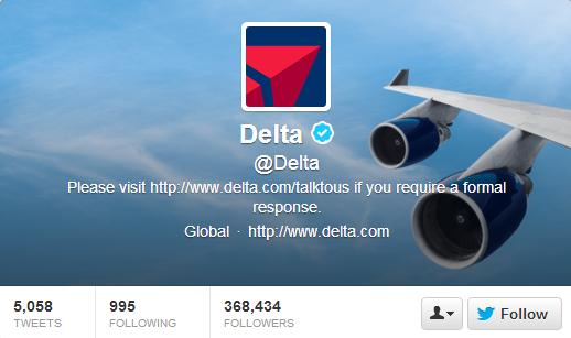 Delta Airlines Twitter Header