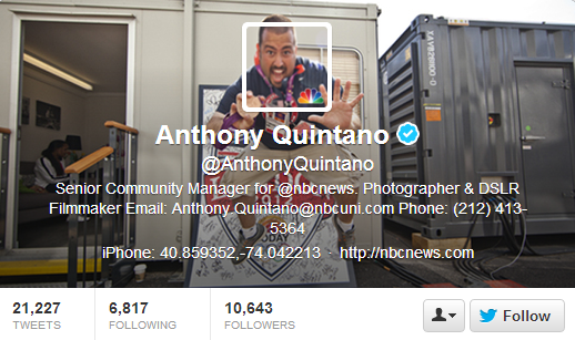 Anthony Quintano Twitter Header