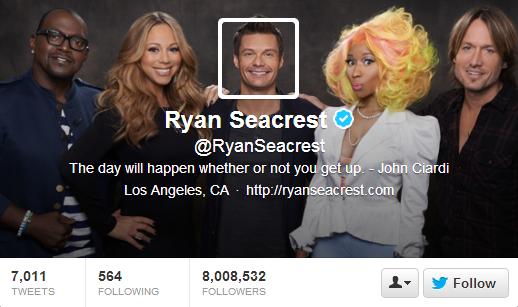 Ryan Seacrest Twitter Header