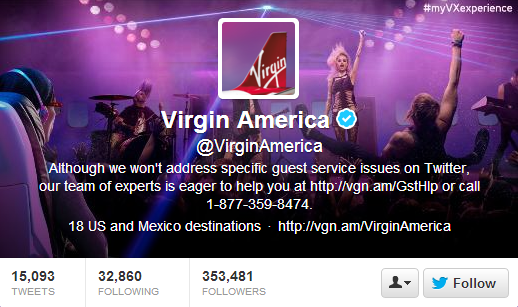 Virgin America Twitter Header