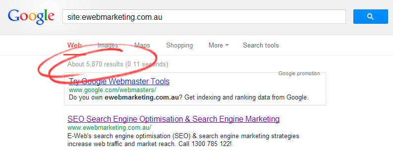 how to check you ve been indexed on google