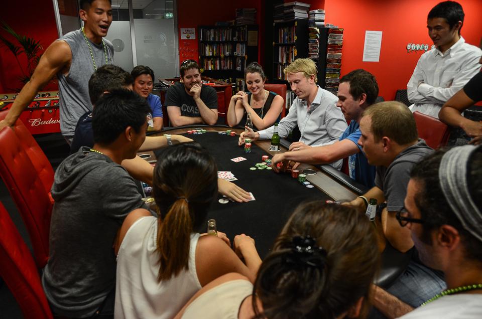 E-Web Funlympics poker game