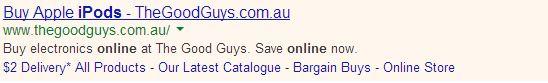 Direct Headline Example