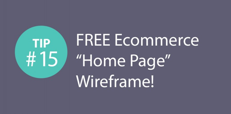Express CRO Tip Series #15 – FREE Ecommerce Home Page Wireframe!