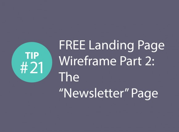 "Express CRO Tip Series #21 – FREE Landing Page Wireframe Part 2: The ""Newsletter"" Page"