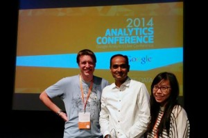 Shawn Powrie, Avinash Kaushik, and Leanne Hung @ The 2014 Google Analytics Conference