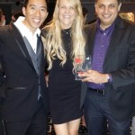 Gary Ng, Lisa Jones and Sam Shetty @ BRW's Best Places to Work Party 2014