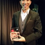 Gary Ng holding the BRW BPTW Award